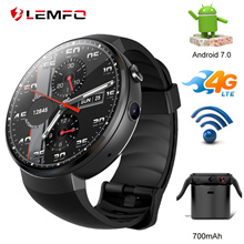 LEMFO LEM7 Smart Watches Android 7.0 Watch Phone LTE 4G Smart Watch Phone Heart Rate 1GB+6GB Camera