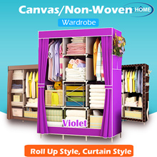 【LEHO】Canvas Wardrobe Organizer/Cupboard/High Capacity Home Organizer/Stylish Clothes Storage