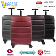 ★Anti-theft zipper★Hard Shell Double Wheel Spinner Polycarbonate Expandable Luggage Trolley Case TSA