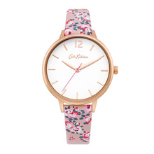 CATH KIDSTON QUARTZ PINK FLORAL ALLOY QUARTZ CKL067PRG ROSE GOLD POLYURETHANE STRAP WOMEN WATCH