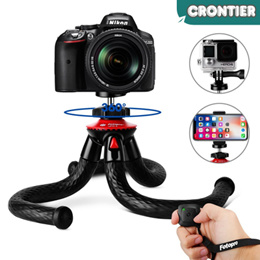 [CRONTIER]Fotopro industrial waterproof 360 degree travel portable tripod for mobile and camera