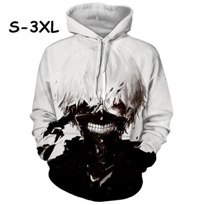 qoo10 3d anime tokyo ghoul kaneki ken sweatshirts unisex thin long
