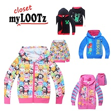 [Jan] Cartoon Light Jacket Kid/Boy/Girl/Child Minecraft/Pony/PJ Mask/Tsum/Pokemon/NinjaGo/Moana/Paw