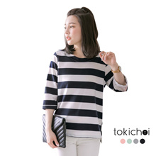 TOKICHOI - Striped 3/4 Sleeved Top-180333