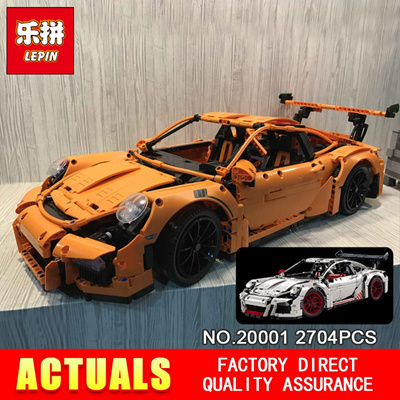 New LEPIN 20001 technic series Race Car Model Building Kits Blocks Bricks  Compatible 42056 Boys Gif
