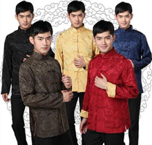 cny clothes Cheongsam for Men 唐装 CNY / Wedding/ traditional chinese clothing for men Top tang s