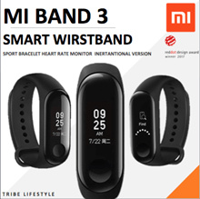 English Ver Latest MIBAND 3 Sports Smart Wristband Bracelet Heart Rate Fitnesss READY STOCKS