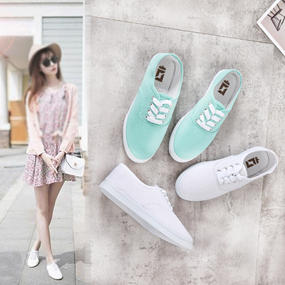 d76956320e4 Qoo10 - Womens Canvas shoes flat shoes small white shoes Sneakers ...