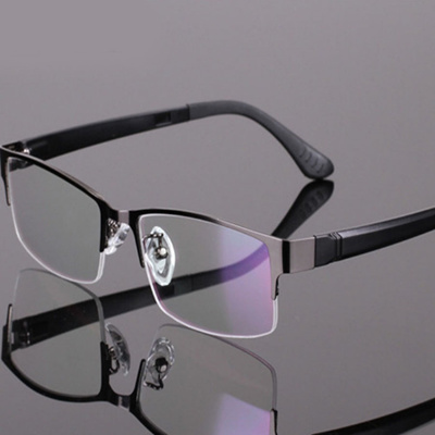 9364a2c0bc1 Men Eyeglasses Frame Women Fashion bril Metal half-frame myopia frames  clear lens glasses optical