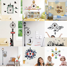 Buy 5 get 1 /The cheapest-Wall sticker+clock silent- No Ticking Sound-Over night delivery