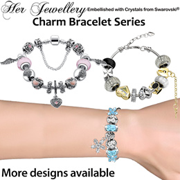 f3608010e COUPON · Embellished with Crystals from Swarovski® - Her Jewellery Charm  Bracelets Series - SG Seller