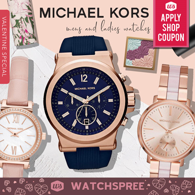 c48c9ca5353c1a [APPLY SHOP COUPON] Michael Kors Men and Ladies Designer Watches. Free  Shipping!