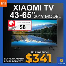 XIAOMI SMART TV 4K 43 - 65 INCH ANDRIOD TV LOCAL WARRANTY LOCAL DELIVERY