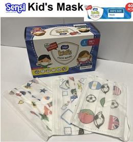 ★READY STOCK★3ply Sensi Kids Mask 40pcs/Box★3 ply 50pcs/box Disposable Motif Mask★Nexcare★Sanitizer★
