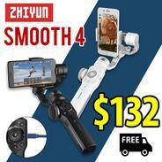 Zhiyun Smooth 4 3-Axis Handheld Gimbal Stabilizer w/Focus Pull  Zoom for iPhone Xs Max Xr X 8 Plus 7