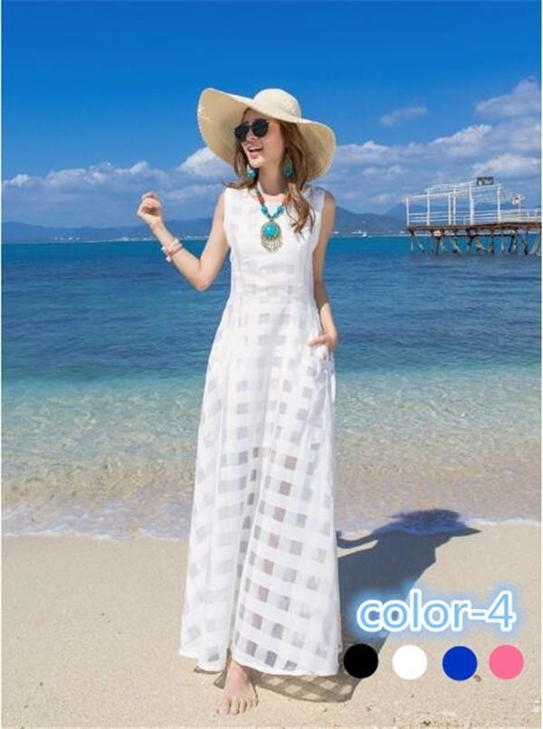 レディースワンピース ビーチワンピース スリム 透け感 ファッション ハイセンス 着心地いい おしゃれ 夏 レディースワンピース