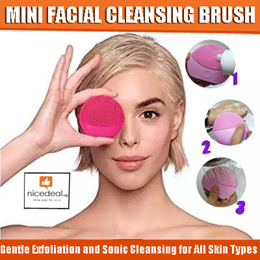 USB Electrical Facial Cleansing Brush Gentle Exfoliation and Sonic Cleansing for All Skin Types