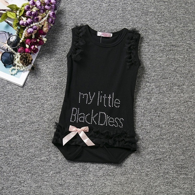 abad06b3ab0a My Little Black Dress- Black Romper Baby Girl Fashion One Piece Summer  Clothes for Newborn