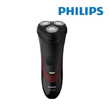 Philips 1000 Series S1320/04 Rotation Black Red Shaver Battery Lithium-Ion Rotatio 3 head Close cut