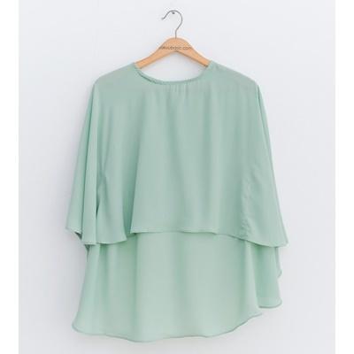 07. batt sleeve blouse - green - free