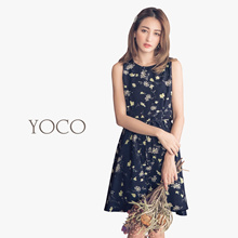YOCO - Floral Tie Dress-172063-Winter