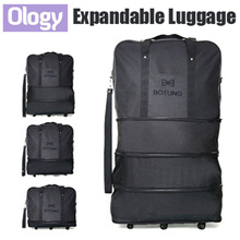 3-in-1 Botung Expandable Travel Luggage Bag Cabin Size Hand Carry Check In Korean Foldable Trolley