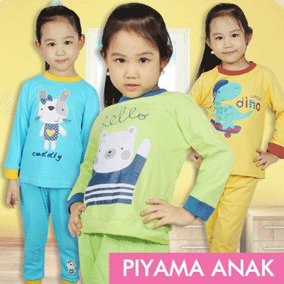 PIYAMA / SETELAN ANAK MURAH UNISEX Deals for only Rp50.000 instead of Rp50.000