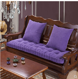 Thick solid wood sofa cushion winter Chinese single three-seat rosewood chair