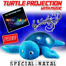 Must Have Mom..HOT!!!Children Toys Kura-Kura Lampu projector tidur anak dengan musik Free Ear Pick