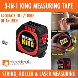 New 3-in-1 Digital Measuring Tool / Professional String Roller and Laser Measuring Functions / High