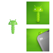 Xiaomi Silicone Funny Cute Robot Anti Dust Earphone Plug for 3.5mm Earphone Jack