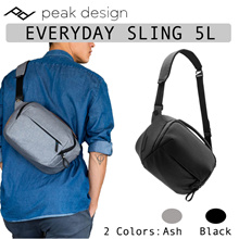 Peak Design Everyday Sling 5L Ash Black Camera Drone Bag | BSL-5-BK-1 | BSL-5-AS-1