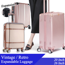 VINTAGE BOX RETRO EXPANDABLE Luggage / Expandable / Cabin / Check in Luggage / 20 26Inch