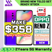 (Telco) Oppo Reno Z 8GB + 128GB   48MP + 32MP with 2 Years Local Singapore Warranty