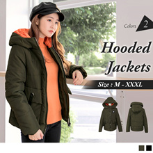 OB DESIGN ★ OBDESIGN ★ ORANGEBEAR ★ LONG SLEEVE HOODED DOWN JACKETS ★ 2 COLORS ★ S-XXXL SIZE ★