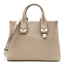 Rollins Large Satchel 30F8TX3S3L TRUFFLE Woman Tote and Shoulder Bag