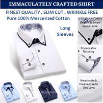 Finest 100% cotton men shirts /slim cut /wrinkle free/ business / dress shirt / light / Comfy .