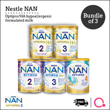 [NESTLÉ NAN] Optipro/HA/Kid hypoallergenic formulated milk【BUNDLE OF 3 TINS!】See Describ for $20 off