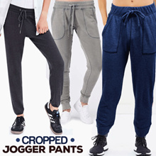 Branded Women New Collection Cropped Jogger Pants - 2 Colors