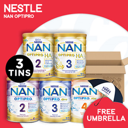 [NESTLÉ] Nan Optipro/HA/Kid hypoallergenic formulated milk【BUNDLE OF 3 TINS!】
