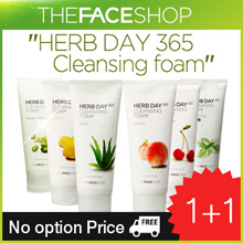 ☆No option Price☆ 1+1 [The Face Shop] Herb Day 365 Cleansing Foam 5types