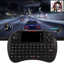 Viboton X3 All-in-One 2.4GHz Mini QWERTY / Remote Controller / Air Mouse with Touchpad for Home Offi