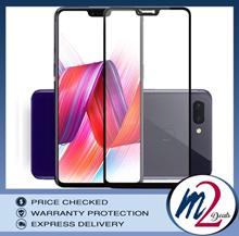 3D Full Cover Tempered Glass Oppo F7 (Black)