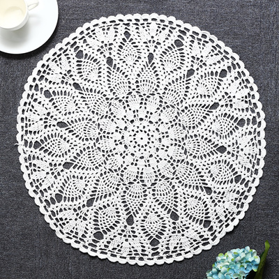 Qoo10 60cm Round Tablecloth Handmade Crochet Lace Cotton Placemat