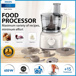 Philips Daily Collection Food Processor - HR7627/01 with 2 years international warranty