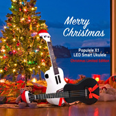 💖LOCAL SELLER💖[23 Inches Populele X1] Christmas Limited Edition Maple Ukulele Micro USB Bluetooth