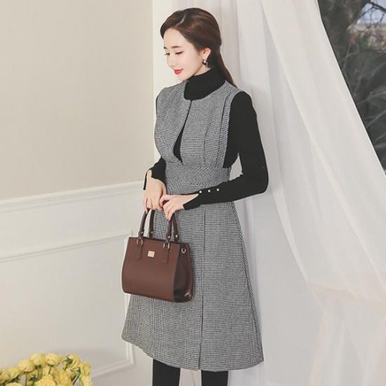 イニクロアンナ・ニットOPSワンピース 無地ワンピース/ワンピース/韓国ファッション