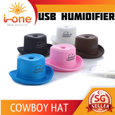 18f758e5c1b MINI PORTABLE USB HUMIDIFIER COWBOY HAT BOTTLE CAP AIR PURIFIER MIST AROMA  DIFFUSION CAR