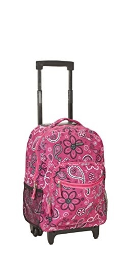 1bbaa5bafe71 Rockland Luggage 17 Inch Rolling Backpack, Bandana, Medium
