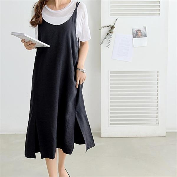 ピピンイクストゥ百エックスひもロングワンピース34709 new ロング/マキシワンピース/ワンピース/韓国ファッション